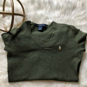 Ralph Lauren V Neck Sport Sweater